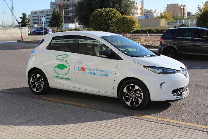 El vehículo eléctrico de la Unidad de Hospitalización a Domicilio