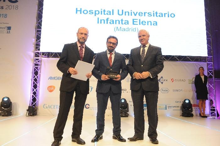 El Dr. Suárez recogió el Premio BIC al Mejor Hospital en Traumatología