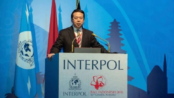 El director de la Interpol, Hongwei Meng