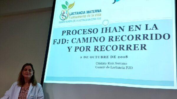 La doctora Ruiz en un momento de su intervención en la jornada