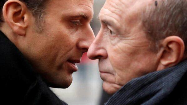 Emmanuel Macron y Gérard Collomb