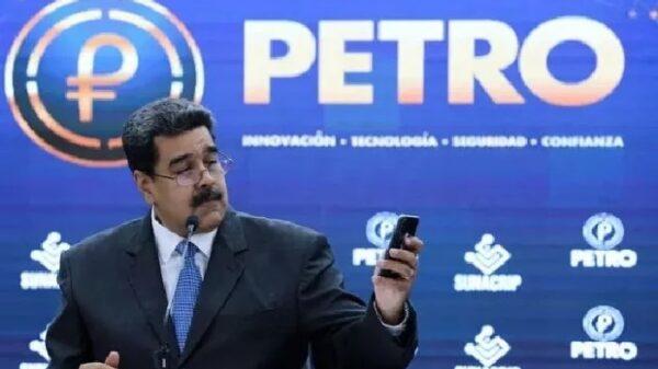 Maduro en la presentación de la criptomoneda Petro