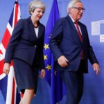 Theresa May y Jean Claude Juncker