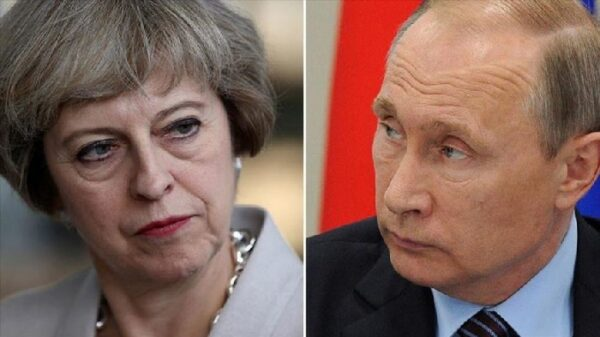 Theresa May y Vladimir Putin