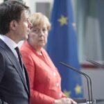 Angela Merkel y Giuseppe Conte
