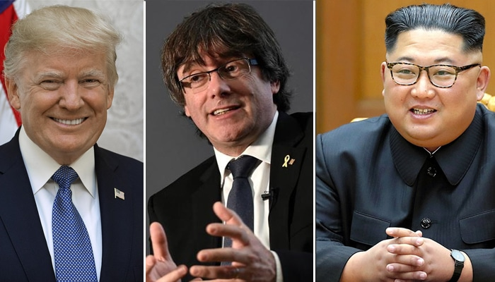 Donald Trump, Carles Puigdemont y Kim Jong Un