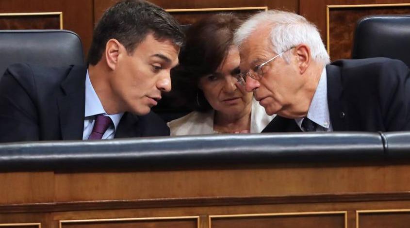 Pedro Sánchez, Carmen Calvo, Josep Borrell