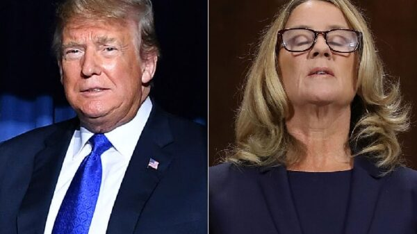 Donald Trump y Christine Blasey Ford