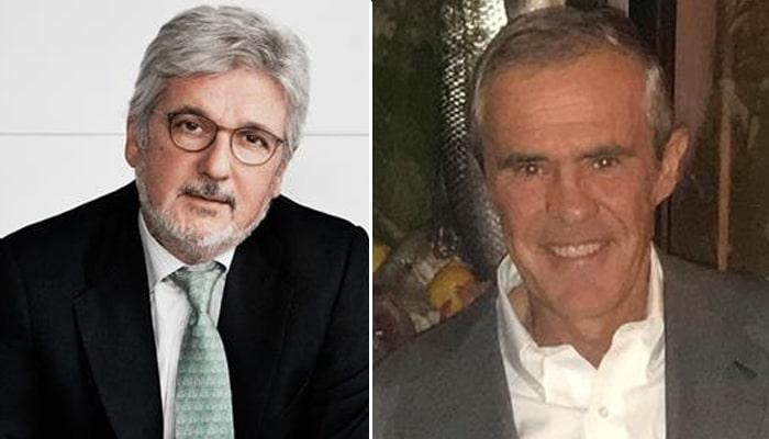 A la izquierda, Mariano Llanas; a la derecha, Fernando D'Ornellas