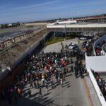 Migrantes en la frontera de Tijuana con EEUU
