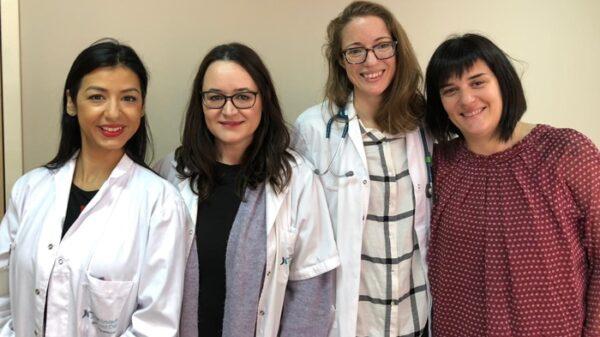 De izquierda a derecha, las doctoras del IIS-FJD Fernández-Fernández, Sánchez-Niño, Martín Clerary y Sanz