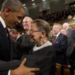 La jueza Ginsburg con Barack Obama