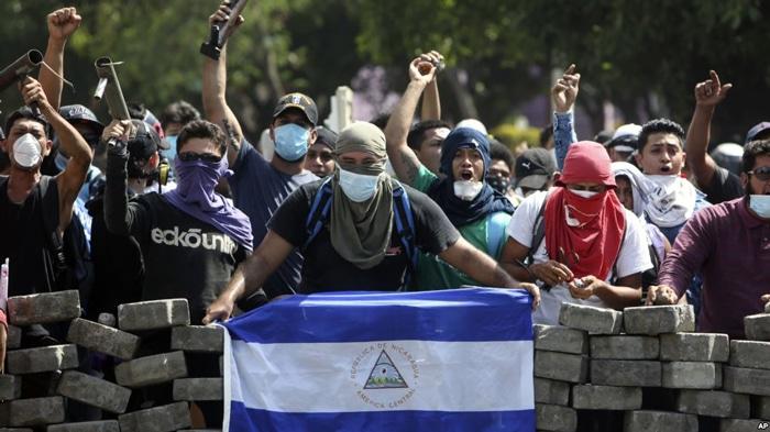 Un momento de las protestas en Nicaragua