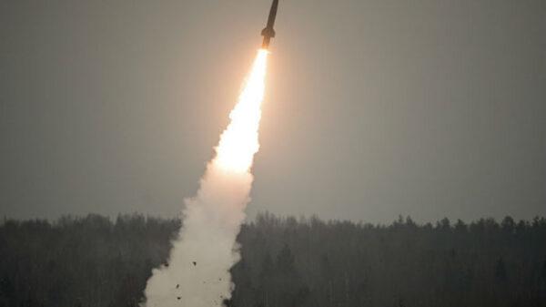 El nuevo misil Avangard durante el ensayo