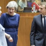 Angela Merkel, Theresa May y Emmanuel Macron