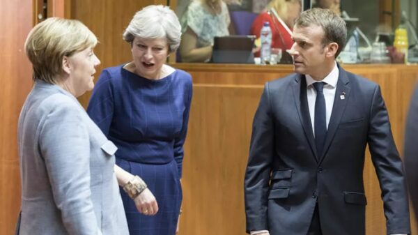 Angela Merkel, Theresa May y Emmanuel Macron