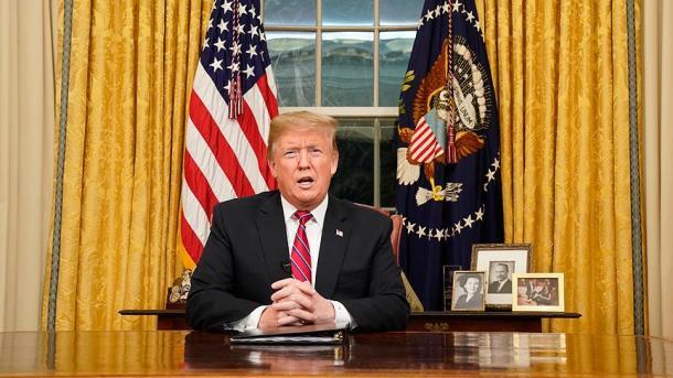 Donald Trump en el Despacho Oval de la Casa Blanca