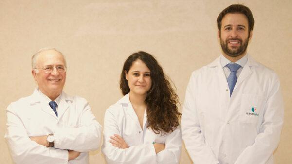 Los doctores Fernando Carceller, Beatriz Mansilla y Javier Saceda