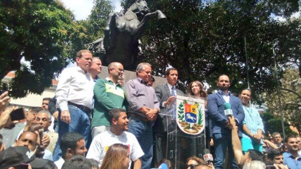 Juan Guaidó en un discurso