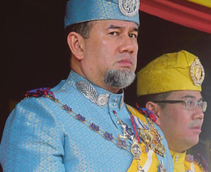 El rey Mohamed V de Malasia