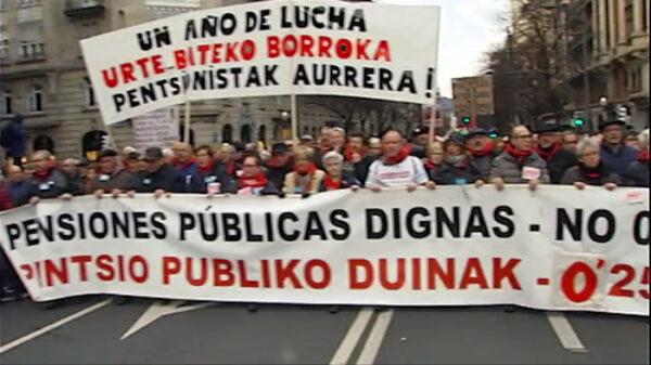 Manifestación de jubilados