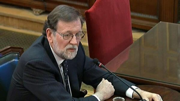 Mariano Rajoy en el juicio por el proceso catalán