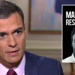 Pedro Sánchez y la portada de su libro, 'Manual de resistencia'