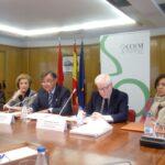 Colegio Oficial de Farmacéuticos de Madrid durante la rueda de prensa