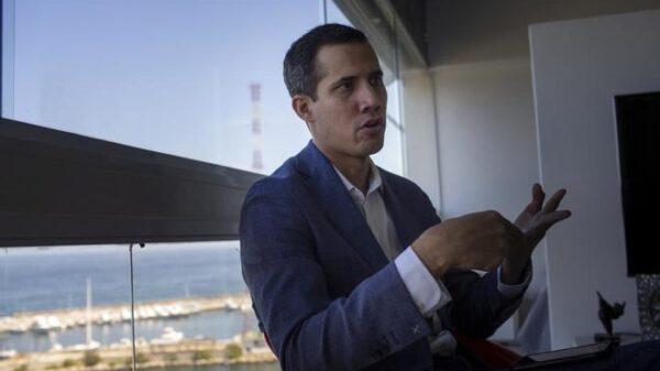 Juan Guaido, presidente de la Asamblea Nacional de Venezuela, durante la entrevista con El Mundo
