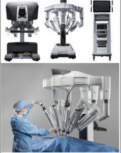 Consola quirúrgica, carro del paciente y torre de control del sistema Xi Da Vinci