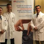 De izquierda a derecha, los doctores Castellón Pavón, Ferrigni González y García Muñoz-Najar