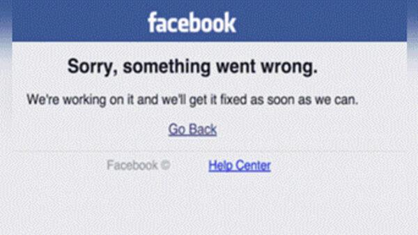 Mensaje de error de Facebook
