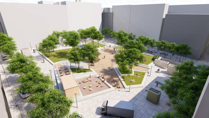 El proyecto de reforma de la plaza Pedro Zerolo en Madrid
