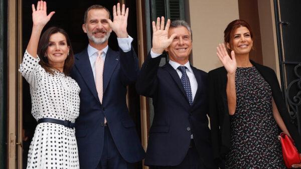 Los Reyes Felipe y Letizia con Mauricio Macri y Juliana Awada