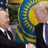 Trump con Nursultán Nazarbayev