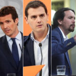 Sánchez, Casado, Rivera, Iglesias y Abascal