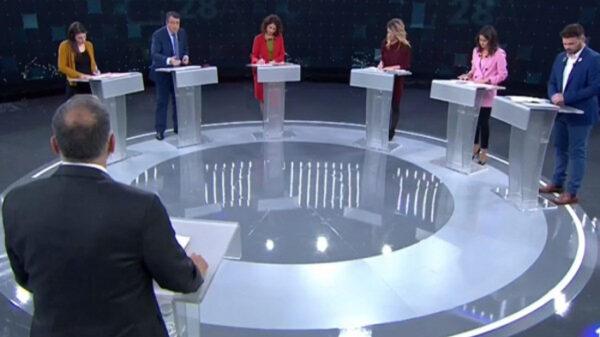 Los representantes del debate a seis en TVE