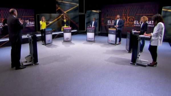 Un momento del debate electoral en TV3