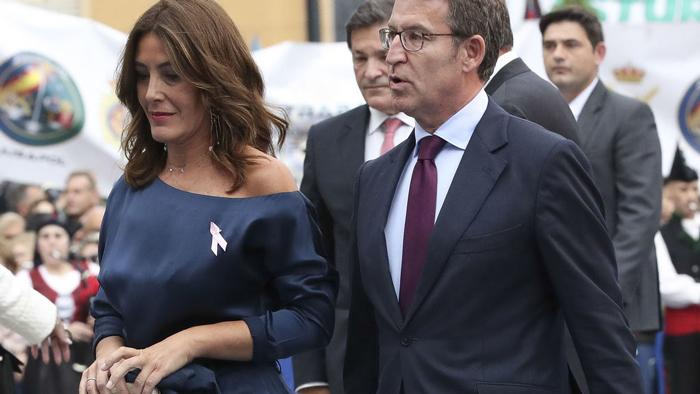 Alberto Núñez Feijóo y su mujer, Eva Cárdenas