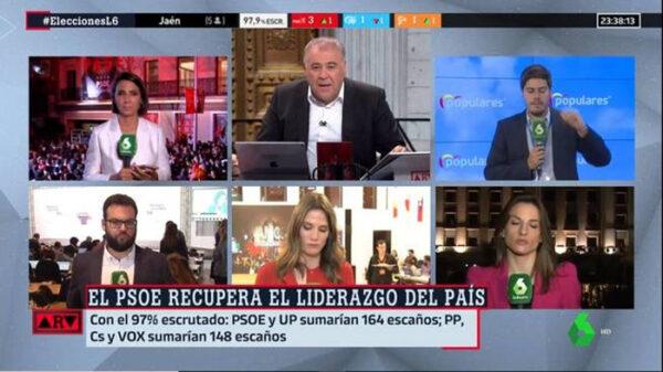 Ferreras, al frente del especial de 'Al Rojo Vivo' por las elecciones