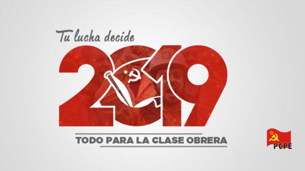 Logo del Partido Comunista de los Pueblos de España para las elecciones de 2019