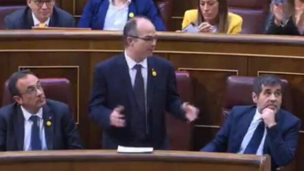 Jordi Sánchez, Jordi Turull y Josep Rull en el Congreso
