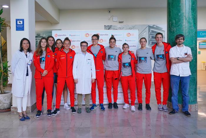 Reconocimiento médico a la Selección Española de Baloncesto femenino