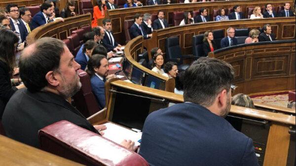 Junqueras y los independentistas presos en el Congreso