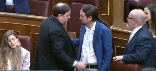 Oriol Junqueras y Pablo Iglesias