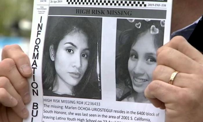 El cartel de la desaparición de Marlen Ochoa