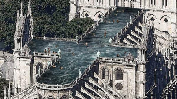 Uno de los proyectos para la reconstrucción de Notre Dame