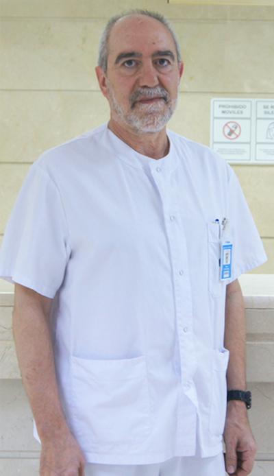Jesús Pinheiro, Supervisor de Enfermería del hospital Ruber Internacional