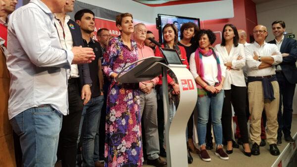 La cúpula de los socialistas navarros, con María Chivite a la cabeza
