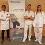 De izquierda a derecha, el doctor Bau, Recio y Santa Escolástica, responsables de las sesiones informativas